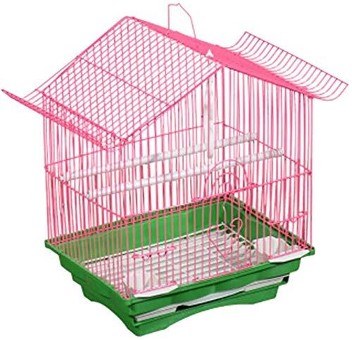Gabbia per uccelli durevole e rispettosa dell'ambi Gabbia di volo per parrocchet gabbie del parrocchetto per 1 uccello, gabbia di viaggio per uccelli, piccola gabbia per uccelli, decorazione all'apert