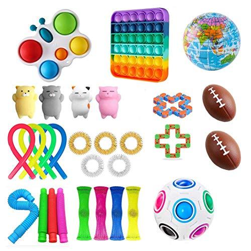 CDER Giocattoli Fidget, Giocattoli Sensoriali, per Sviluppare lintelletto Alleviare Lo Stress, per ADHD ADD OCD Ansia Autismo, per Bambini Adulti Adolescenti Studenti