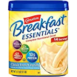 Carnation Breakfast Essentials Vanilla Powder, 17.7 Ounce Canister, (Classic French Vanilla, Pack - 1)