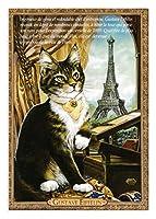フランス製 キャットポストカード (GUSTAVE EIFFELIN) ギュスターヴ・エッフェル CPK148