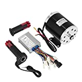 Mophorn 500W DC Electric Motor 24V Permanent Magnet DC Brush Motor Kit 2500RPM with Speed Control Throttle Fit for Mini Bike Quad Go-Kart (24V 500W DC Motor with Throttle)