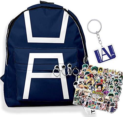 My Hero Academia Backpack MHA Keychain Anime Stickers Hero Academia Cosplay School Bookbag Travel product image