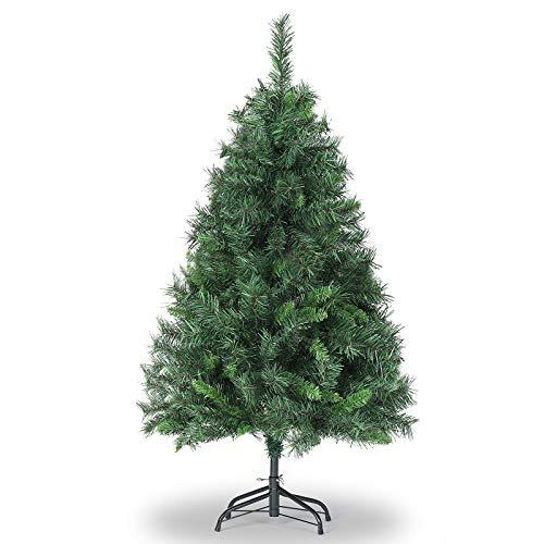 SALCAR Árbol de Navidad de 120 cm, Árbol Artificial con 279 Puntas, ignífugo, Abeto, construcción rápida Incl. Soporte para árbol de Navidad, Navidad decoración Verde 1.2 m