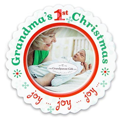 Grandma's 1st Christmas Ceramic Photo Ornament