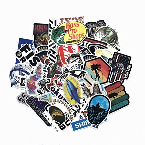 QIANGWEI 50 Stks Waterdichte Visserij Auto Stickers Outdoor Stickers Vissen Liefhebbers Vissen Doos Persoonlijkheid Stickers Trolley Case