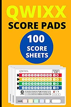 Qwixx Score Sheets  100 Score Pads for Qwixx Qwixx Score Cards Qwixx Game Sheets