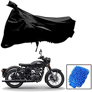 Riderscart All Season (Weather) Waterproof Bike Cover for Royal Enfield Classic 500Indoor Outdoor Protection Combo with St...