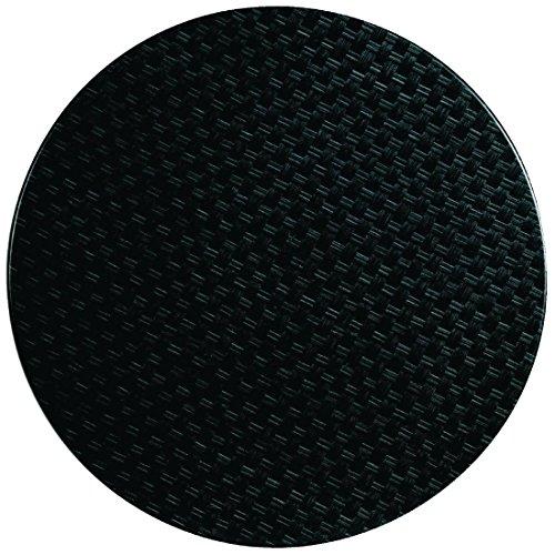 Werzalit Plus Cg663 rond Dessus de table, 800 mm, en rotin Anthracite
