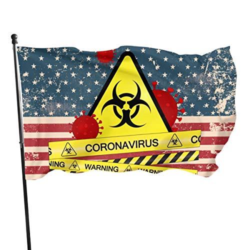 SD3DPrint Stop - Bandera de Coronavirus (90 x 150 cm)