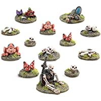War World Gaming - 13 Base Toppers para decoración de peanas - Miniaturas 28mm Escala Heroica Wargame Modelismo Maqueta Escenografía Wargaming