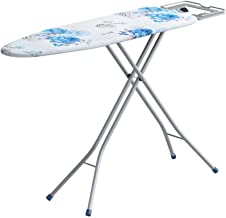 Zizer X-Pres Ace - Extra Large Foldable Ironing Board with Ironing Table with Iron Stand (Blue)