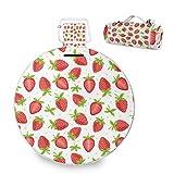 Fruits Strawberry - Manta de picnic grande al aire libre, impermeable, práctica esterilla de picnic para la familia Camping Beach Park, redonda de 59 pulgadas