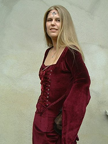Dark Dreams Gothic Mittelalter Schmuck Diadem / Tiara Rosenkreuz, Farbe:rot - 4