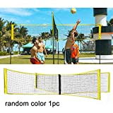 <span class='highlight'><span class='highlight'>Apofly</span></span> Four Square Volleyball Net Portable 4 Sided Cross Volleyball Net Beach Volleyball Standard Net for Outdoor Indoor Random Color