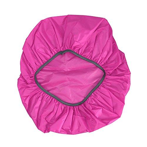 LEDMOMO Housse de pluie imperméable pour sac à dos 45 l (rose rouge)