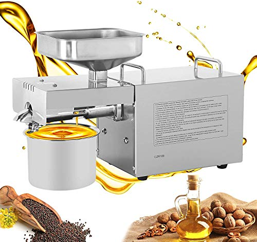 IAM Zone Oil Press, Oil Maker Machine 600W Advanced Technology- with Simplified Temperature Controller and Higher Capacity (Food Grade Stainless Steel)