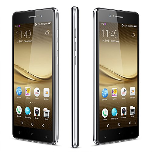 "Padcod New R7 Android Unlocked Smartphone,5.5"" Screen,MTK6580M Quad-Core 1.2GHz Processor,8GB ROM,Dual SIM,2g/3g Network,Wi-Fi/Bluetooth Cellphone (Black)"