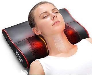 MSF Masajeadores eléctricos Cojín de masaje con infrarrojos, masajeador shiatsu y hombros para la familia/oficina/automóvil/negro