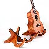 Homefunny X型 木製 折り畳み式 楽器スタンドホルダーサポーター ウクレレ/マンドリン/ヴァイオリン用