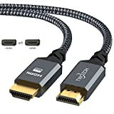 Twozoh Cable HDMI 4K 10M, Cable HDMI 2.0 Trenzado de Nailon de Alta Velocidad 4K@60Hz...