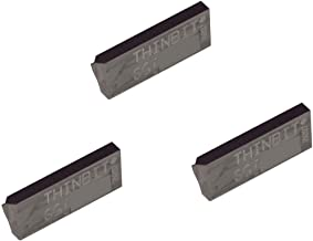 Brass TiCN Coated Carbide Bronze Copper and Cast Iron with Interrupted Cuts THINBIT 3 Pack LGTTD2R1D L Series Threading Insert for Greater Than 56 TPI in Aluminum