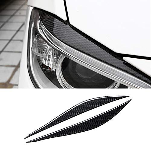 JXSMQC Carbon Fiber Car Frontscheinwerfer Augenbrauen Augenlider.Für BMW 3er F30 320i 325i