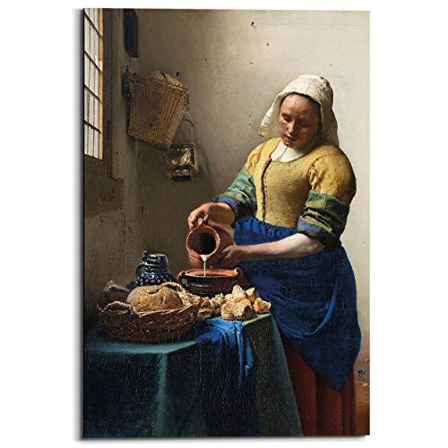 Schilderij Deco Panel Melkmeisje Johannes Vermeer - Oude meesters - Kunst - Rijksmuseum - 60 x 90 cm