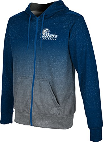 ProSphere Drake University Boys' Zipper Hoodie, School Spirit Sweatshirt (Ombre) 5B0ACF6A Blue and Gray