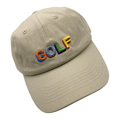 HSYZZY Golf Baseball Cap 100% Baumwolle bestickt Dad Hat Snapback Unisex Twill Hat - Beige - Einheitsgröße