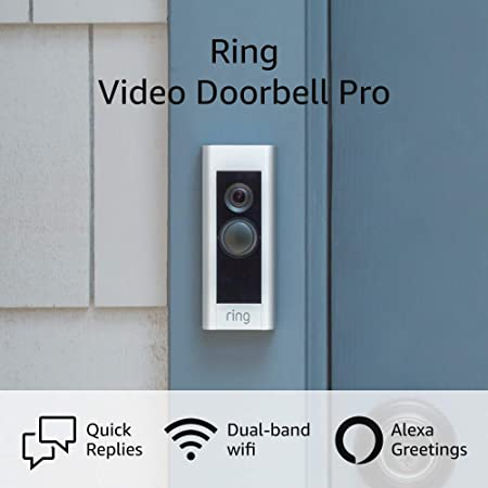 Amazon.com: Ring Video Doorbell Pro – Upgraded, with added security features and a sleek design (existing doorbell wiring required) : Tools & Home Improvement