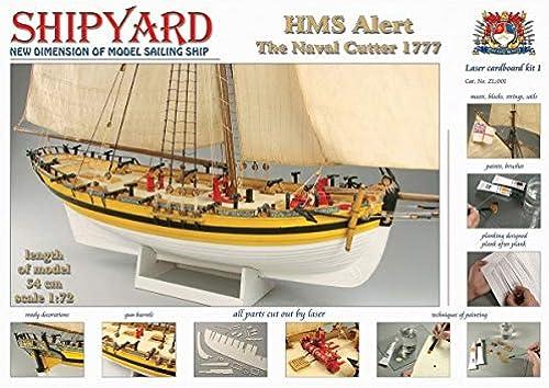 Shipyard HMS Alert 1777 Ma ab 1 72