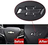 Compatible Steering Wheel Bowtie Emblems for Chevy Equinox Malibu Cruze Volt Blazer Silverado Suburban Tahoe Bolt Trax Spark Sonic Impala(steering wheel emblem)