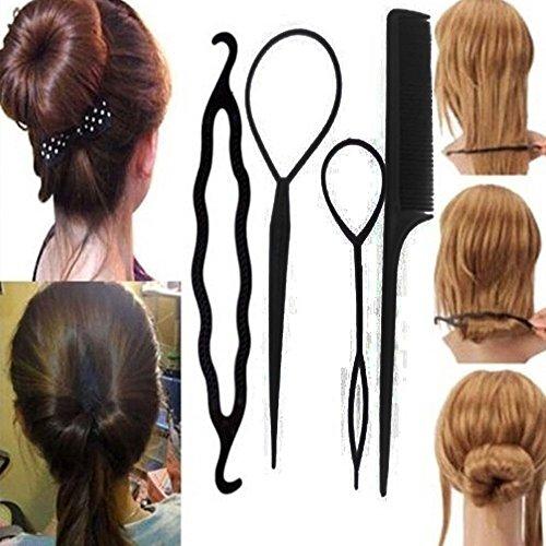 Haaraccessoire/Hilfsmittel für Duttfrisur, für Damen, zum Drehen von Dutts, 4Stück