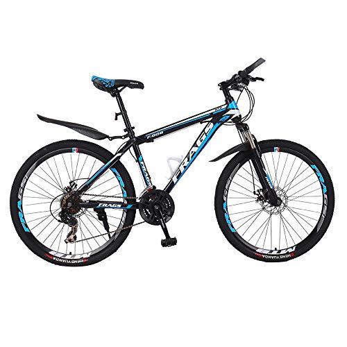 JIAOJIAO Bicicleta de montaña para Hombres y Mujeres para Adultos Bicicleta de Velocidad Variable para Estudiantes en Carretera Carreras a Campo traviesa 26 Pulgadas Freno de Disco Doble