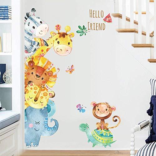 GWFVA sticker potlood dier Cartoon Giraffe Kid Thuis muursticker Decal muur decoratie deur Sticker