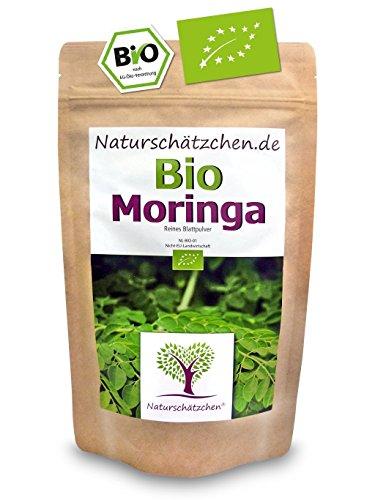 Bio Moringa Pulver (Blattpulver, Moringapulver) in geprüfter Bio-Qualität (DE-ÖKO-022) (250g) (1x 250 g)