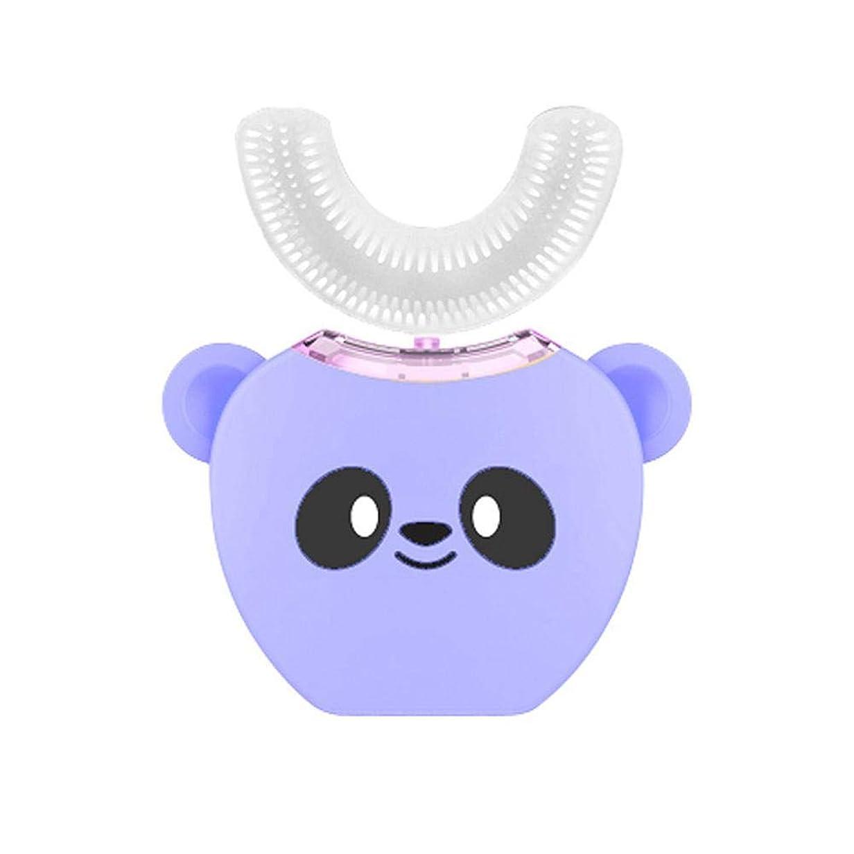 迷路繕うメナジェリー子供用シリコン電動歯ブラシ、超ソフトシリコンブラシヘッド付き自動360完全充電式ホワイトニング歯ブラシ、ワイヤレス充電、高速クリーン歯