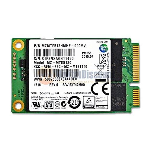 Samsung 512GB mSATA de SATA III de 50mm de PM851 MZMTE512HM de unidad de estado sólido SSD