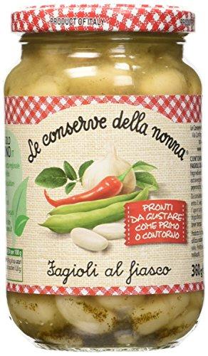 Le Conserve della Nonna Fagioli al Fiasco Ricetta Tradizionale Toscana con Fagioli Cannellini - 360 gr