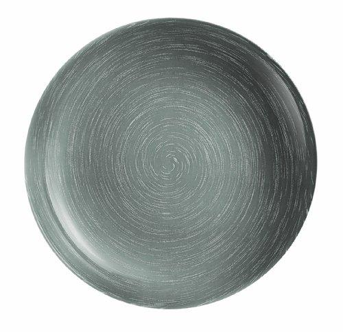 Luminarc - Armadis stone mania - Juego de platos de postre (6 unidades), efecto piedra, color gris