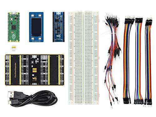 Waveshare Raspberry Pi Pico Evaluation Kit (Type B) Includes Pico + Color LCD + IMU Sensor + GPIO Expander Comes with Demo Code for GPIO, PWM, I2C, SPI (8 Items)