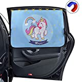 Car Side Window Sun Shade - Universal Fit Magnetic Curtain Baby Sunshade Protector with 8 Magnets and 4 Suction Cups, With Sun Protection Block Damage from Direct Bright Sunlight, Heat, Glare, UV Rays