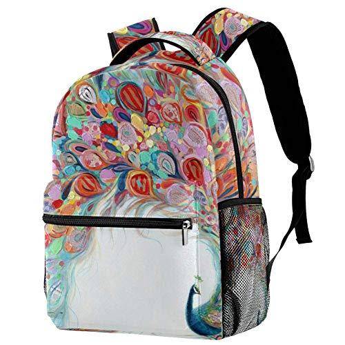 Canvas School Backpack Unisex College Student,Kids Backpack School Bag for Girls Boys Teenage Waterproof Students Satchel