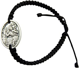 JWG Industries Saint Christopher Religious Medal Jewelry Bracelet