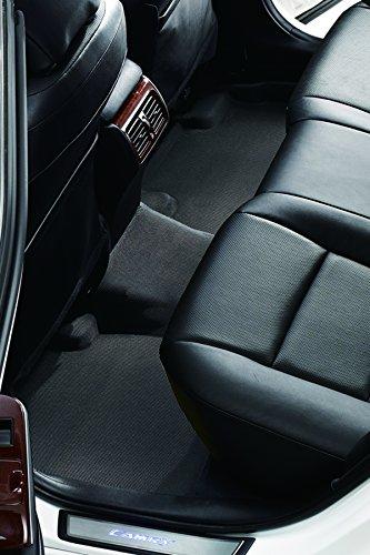 3D MAXpider L1LX03721509 All-Weather Floor Mats for Lexus LX/Toyota Land Cruiser 2008-2020 Custom Fit Car Floor Liners, Kagu Series (2nd Row, Black)