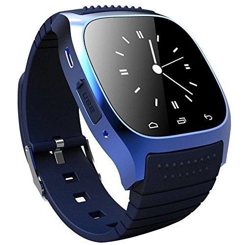 X-reega M26 Tragbarer Smartwatch, Pedometer/Media Control/Freisprechen/Anti-verloren für Android/iOS BLAU
