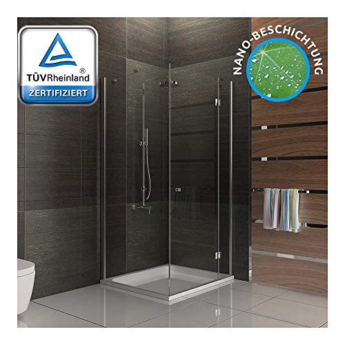 Douchecabines 6 mm Easy Clean Glas ESG douchewand 80x90x195 douche