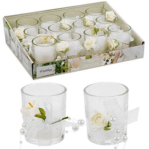 Duftkerze Hochzeit Dekorative Kerze in Glas, Mittelpunkt Geschenk-Set