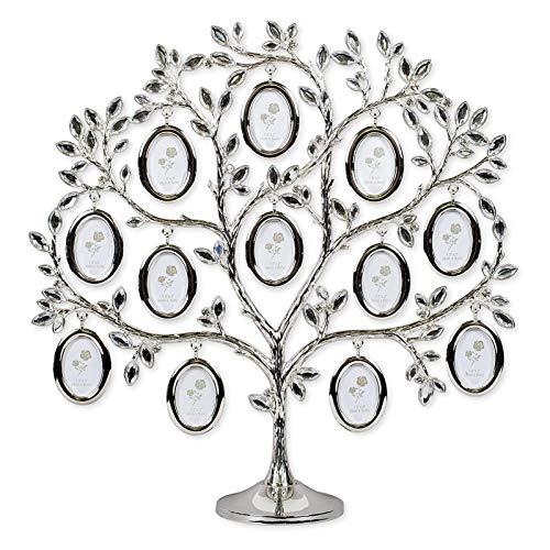 Neuester Stammbaum | Zinklegierung Stammbaum mit 12 hängenden Bilderrahmen | Stammbaum Fotorahmen Dekoration | Gedenkgeschenk für die Familie