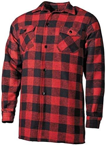 Mil-Tec Outdoor - Camisa de leñador del ejército alemán, Color Negro/Rojo Negro Blanco/Rojo Talla:M